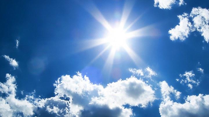 солнце среди облаков