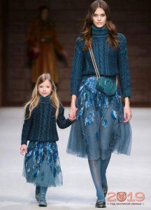 Синий цвет мода 2018-2019 года