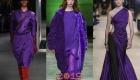 Модный фиолетовый зимы 2018-2019 года