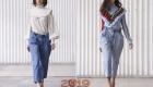 Джинсовые брюки зима 2018-2019