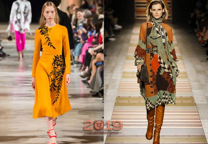 Модные платья зима 2018-2019