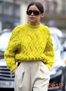 Лимонный свитер 2018-2019 года