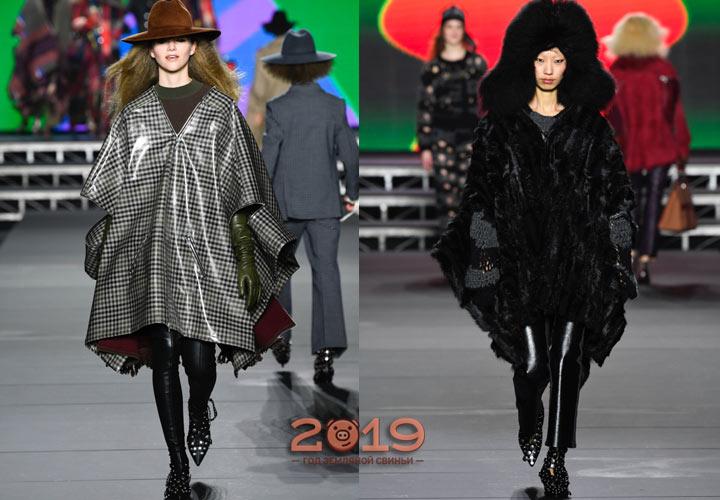 Модные пончо 2019 года