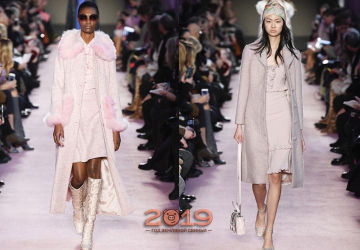 Стильное светлое пальто зима 2019