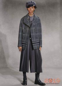Модная юбка-брюки со складками Диор осень-зима 2018-2019