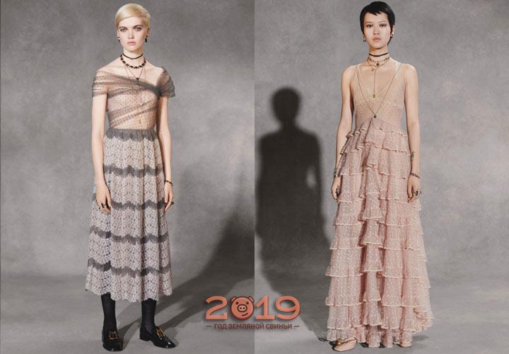 Платья коллекции Диор