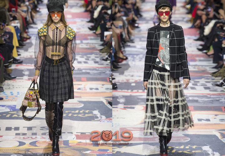 Модная клетка в образах Dior