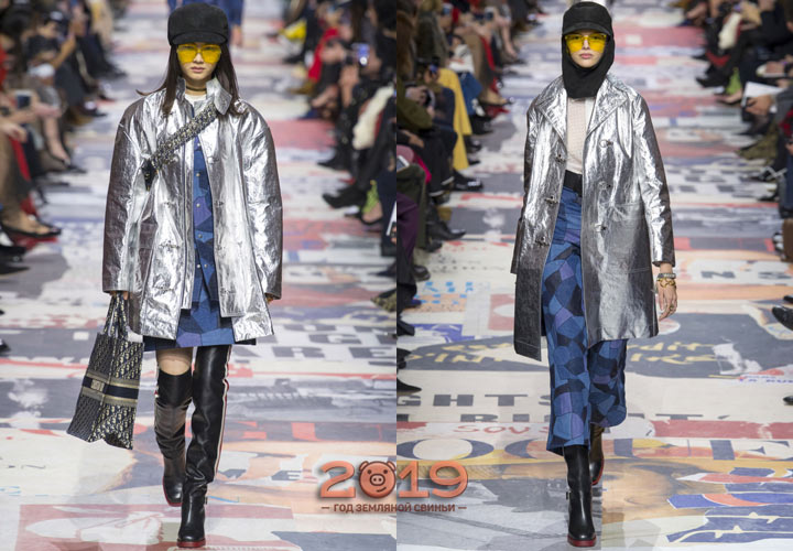 Деним + серебро мода 2018-2019 года