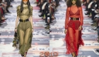 Прозрачные однотонные платья Dior сезона зима 2018-2019