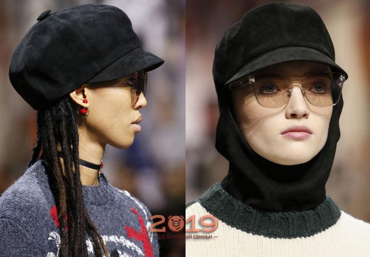 Головные уборы  Dior  зима 2018-2019