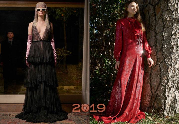 Вечерние образы Gucci зима 2018-2019