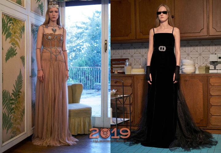 Gucci прозрачные платья 2019 года