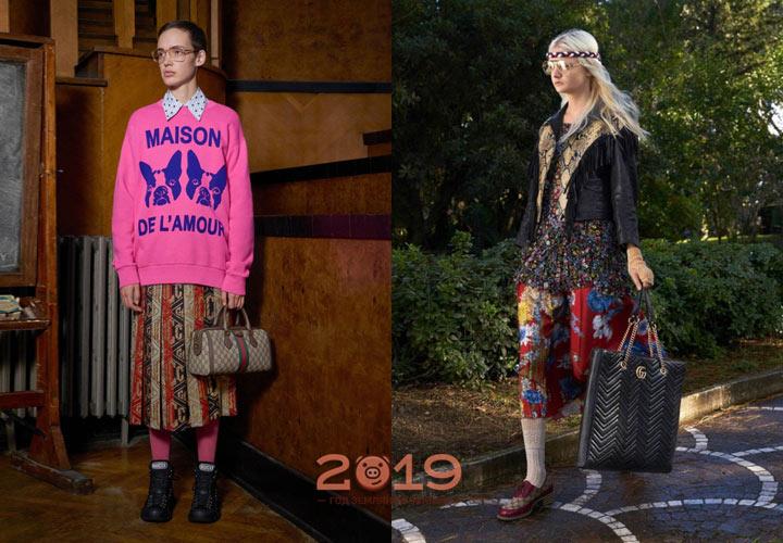 Молодежные образы Gucci осень-зима 2018-2019
