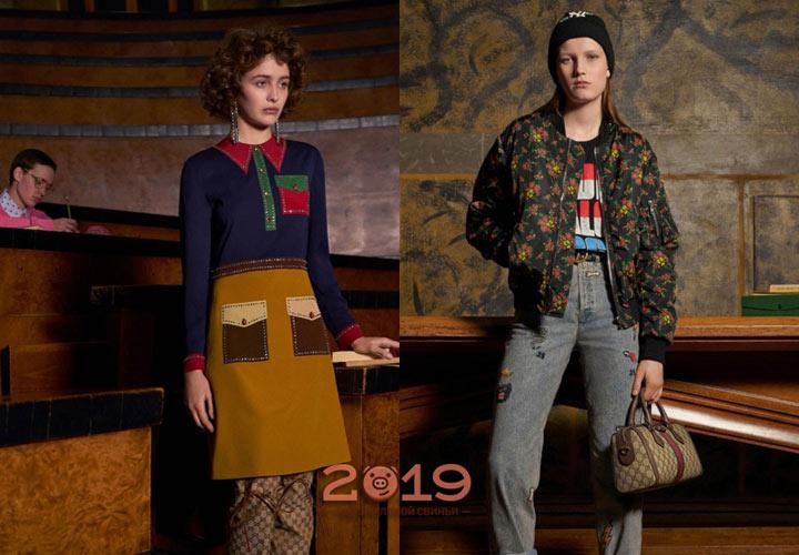 Модные луки от Gucci зима 2018-2019