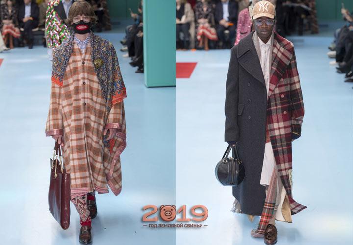 Модная клетка Гуччи зима 2018-2019