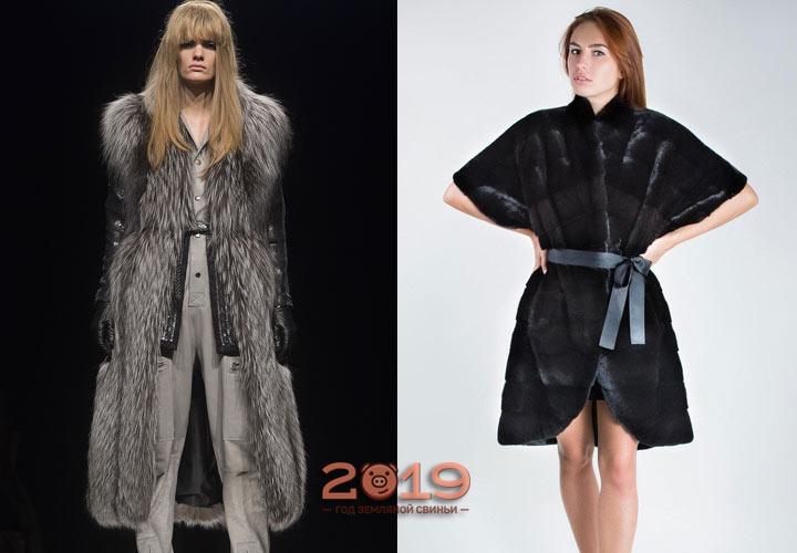 Модный жилет-халат зима 2018-2019