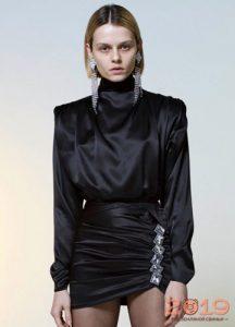 Moda siyah bluz kış 2018-2019