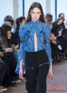 Moda mavi bluz kış 2018-2019