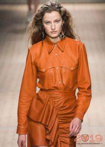 Moda turuncu bluz kış 2018-2019