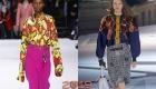 Sonbahar-kış 2018-2019 için moda renkli bluzlar