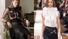 Moda şeffaf bluzlar kış 2018-2019
