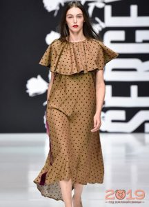 Модный принт в горошек зима 2081-2019