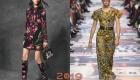 Платье в цветочек зима 2018-2019