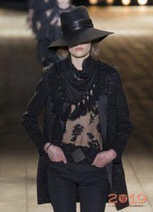 Широкополая черная шляпа Saint Laurent 2018-2019 год