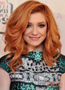 Мягкий золотисто-рыжий оттенок волос