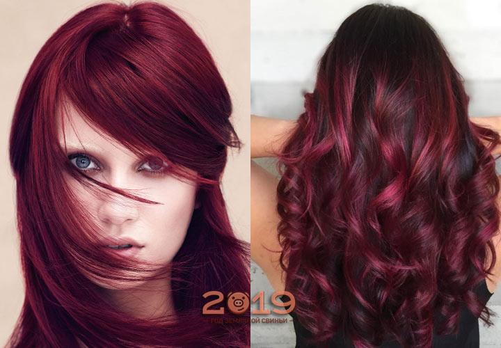 Модный вишневый оттенок волос