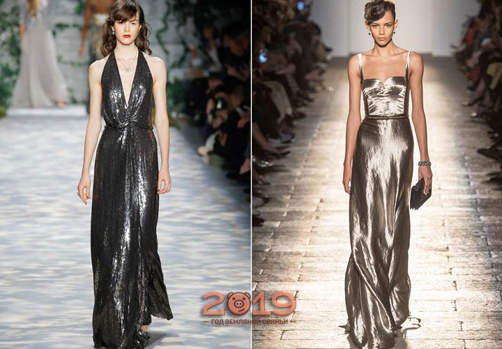 Блестящее новогоднее платье 2019