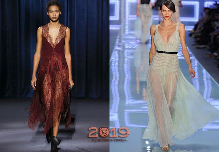Красивое прозрачное платье для встречи Нового 2019 года