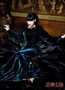 Модное платье из бархата на Новый 2019 год