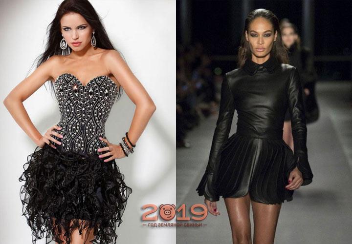 Черное платье на Новый Год 2019