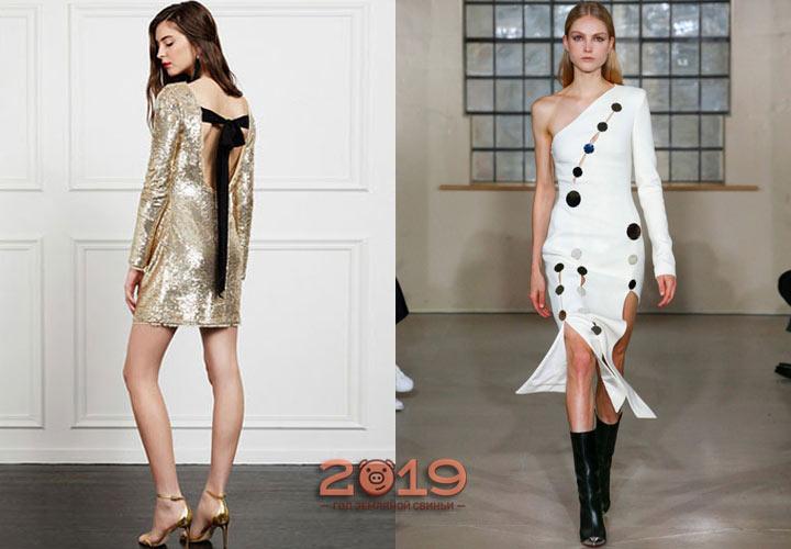 Необычные модели платьев для Нового Года 2019
