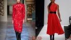 Красное новогоднее платье 2019 года