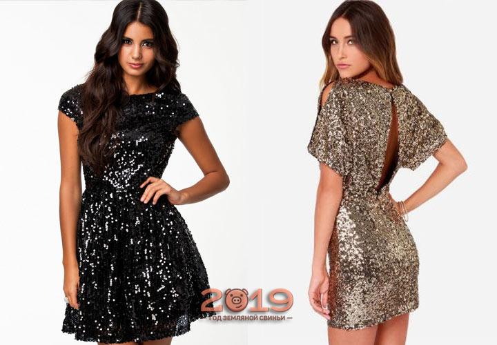 Новогоднее платье, расшитое пайетками