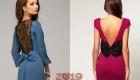 Бант на новогоднем платье - мода 2019 года