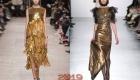 Новогоднее золотое платье 2019