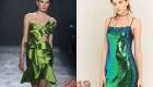 Зеленое новогоднее платье 2019