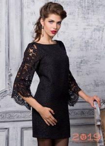 Короткое черное платье на Новый Год 2019