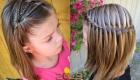 Прическа для девочки на волосы средней длины