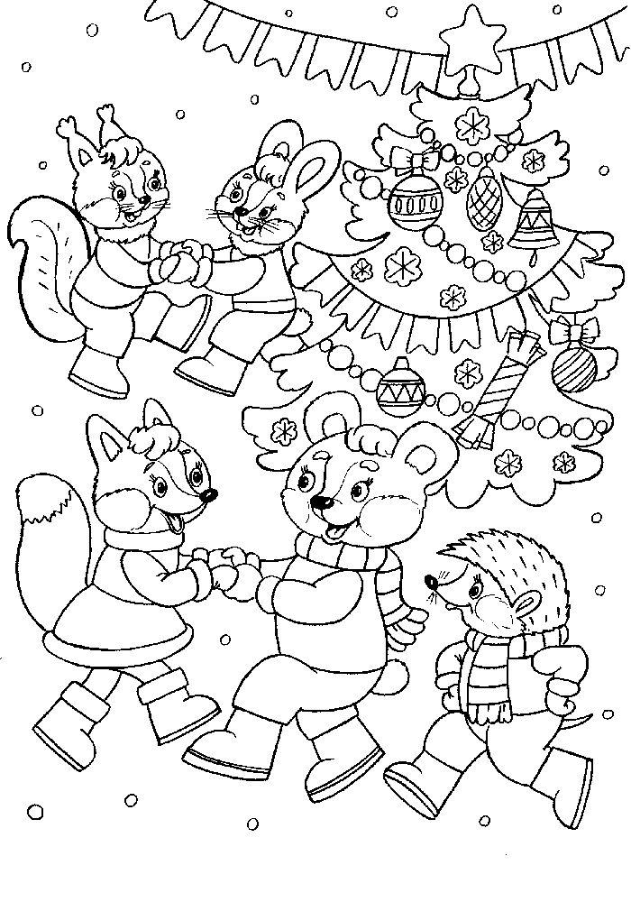 Новогодняя раскраска