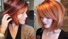 Стильный боб не рыжие волосы