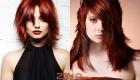 Каскад на рыжие волосы