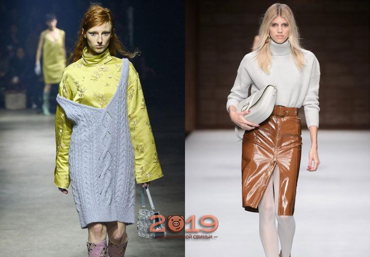 Модные вязаные вещи осень-зима 2018-2019