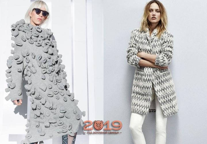 Вязаная мода сезона осень-зима 2018-2019