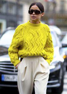 Лимонный свитер зима 2018-2019