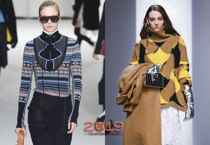 модные свитера 2018-2019 года