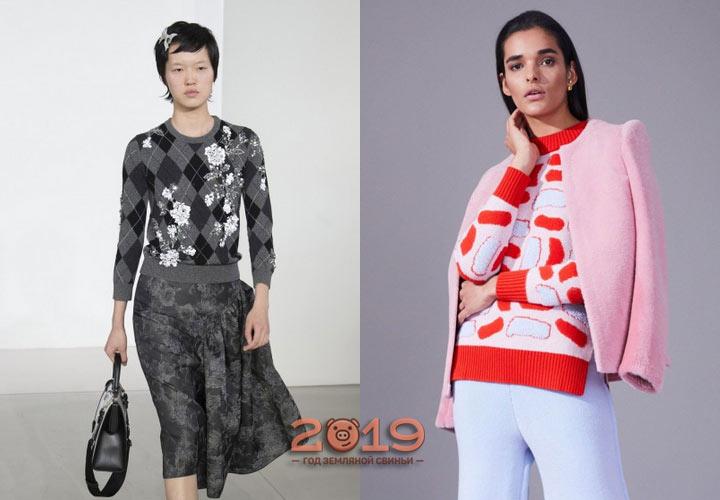 Стильные модели свитера зима 2019